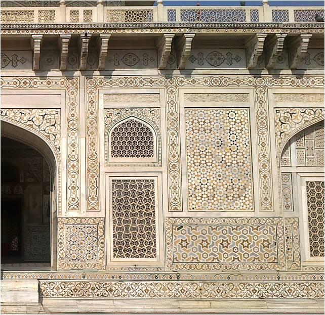 wall design at Itmadud daulah