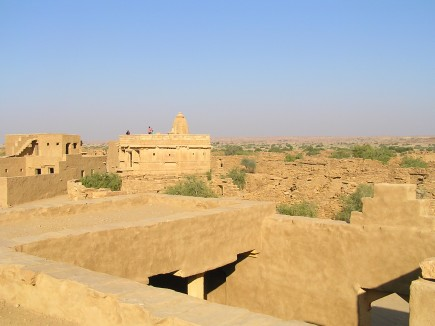 vast expanse of ruins from roof of a house