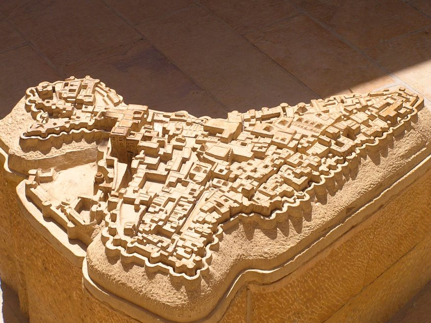 Plan of Jaisalmer Fort on a stone slab