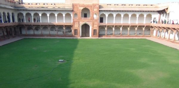 Courtyard where Meena Bazar was put up