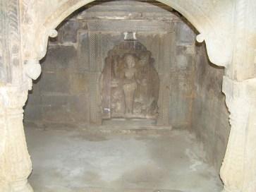 goddess idol in the pavillion