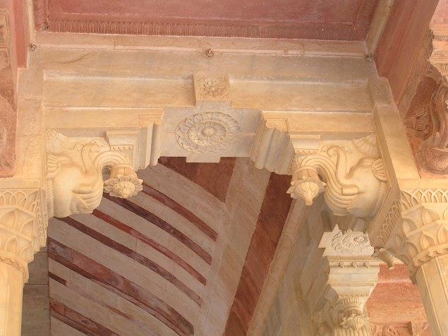 Jaipur Fort : Elephant brackets