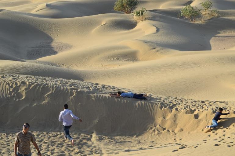Fun on sand dunes