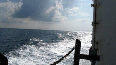 From the ship deck