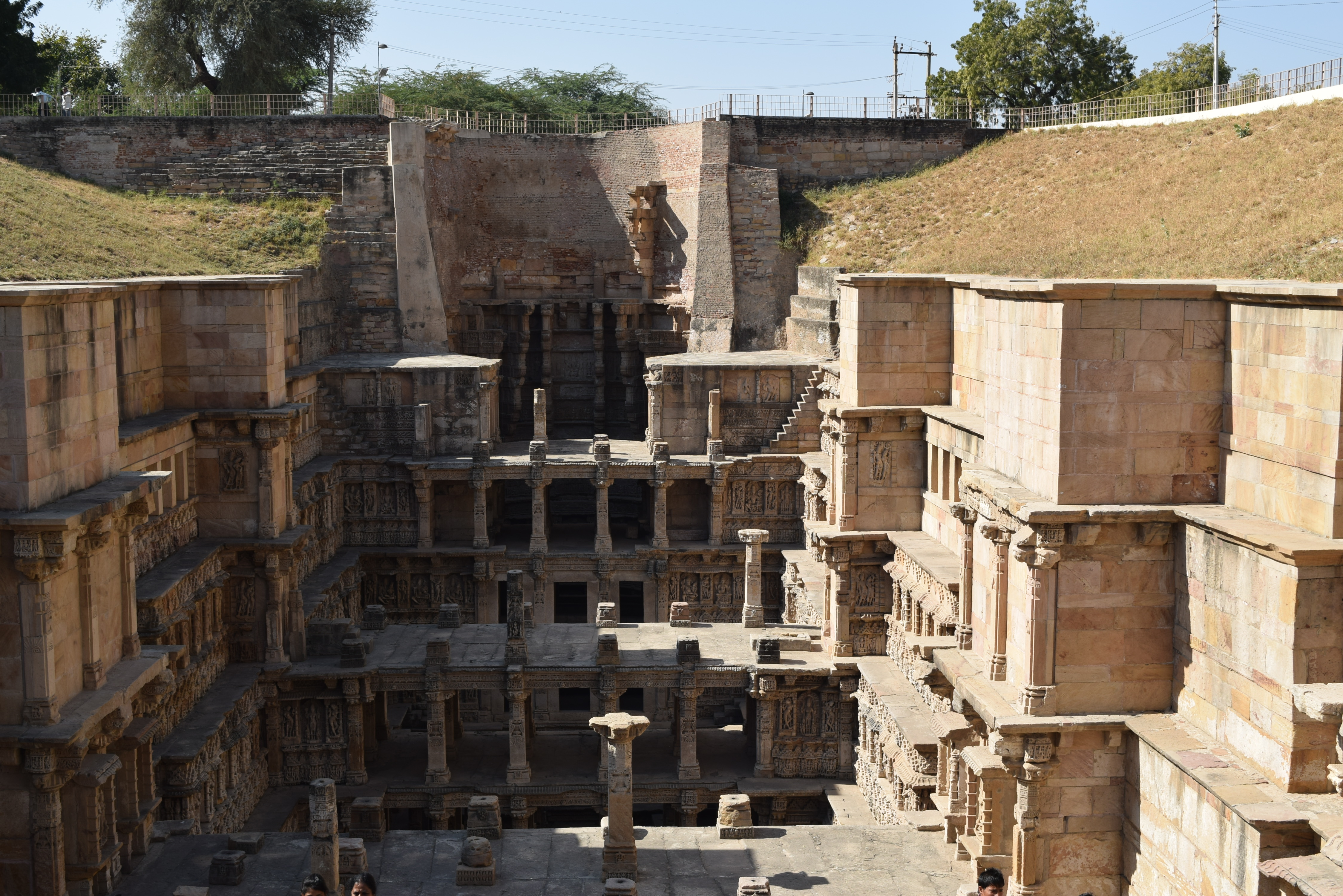 The seven tiers of Rani ki vav step well