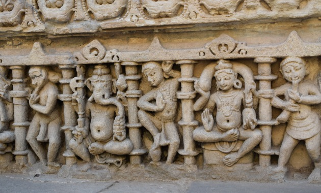 Ganesha and other celestial figuress