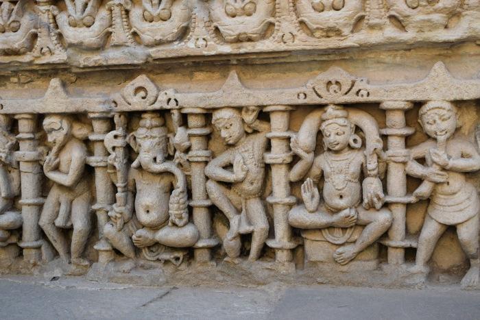 Ganesha and other celestial figuress