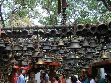 bells offered by devotees