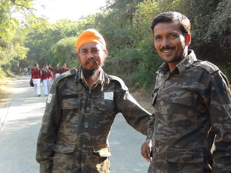 Our rickshaw pullers and guides obliging us with shy smiles and a pic