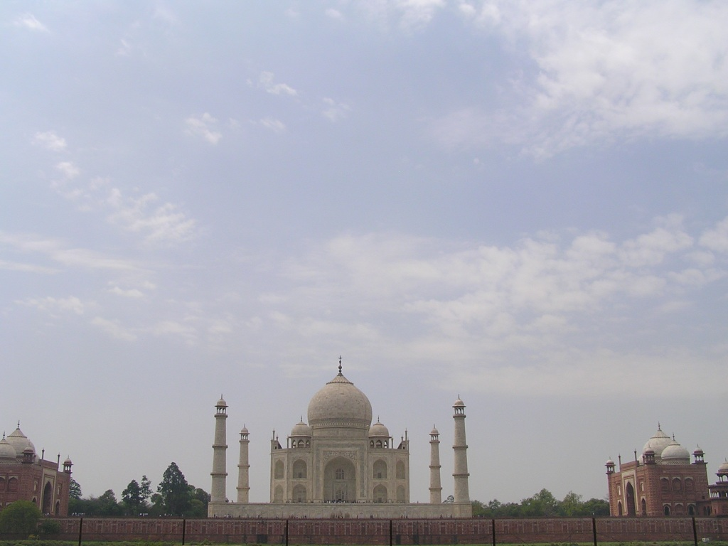 Taj Mahal from Mehtab Bagh across River Yamuna