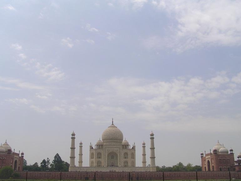 Taj Mahal from Mehtab Bagh across River Yamuna