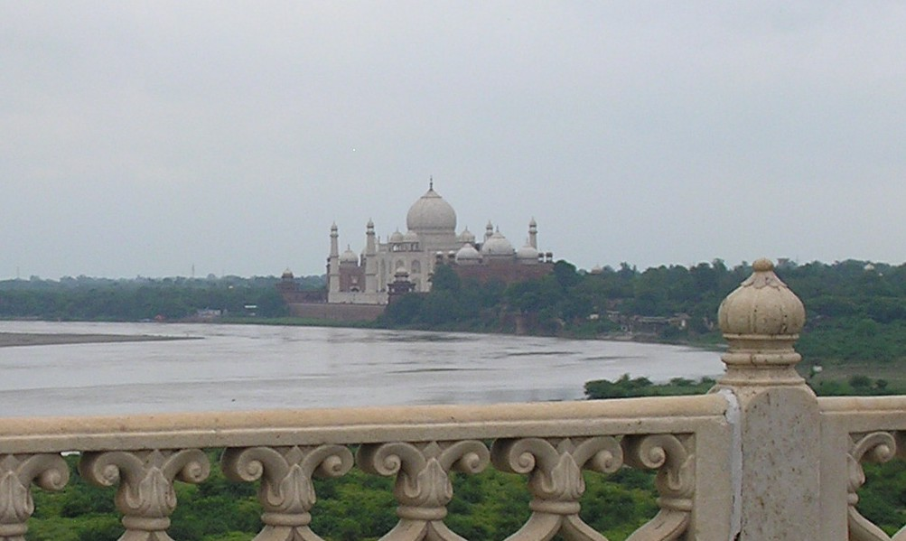 Taj Mahal from the Bedroom Terrace at Agra Fort
