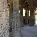 Carved pillars inside sabhamandap