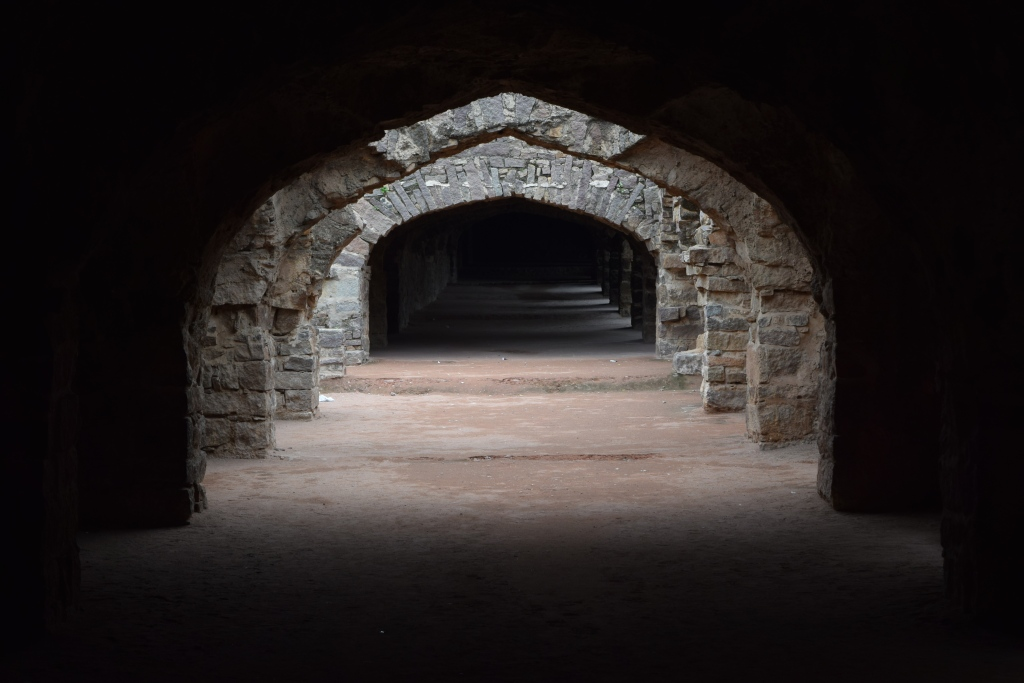 Arched passages for soldiers