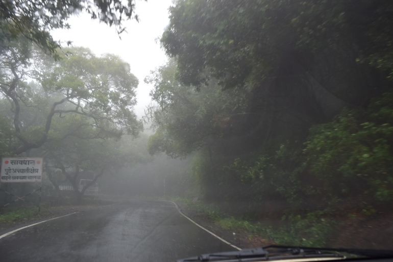 Torrential rains at Tamhini ghat
