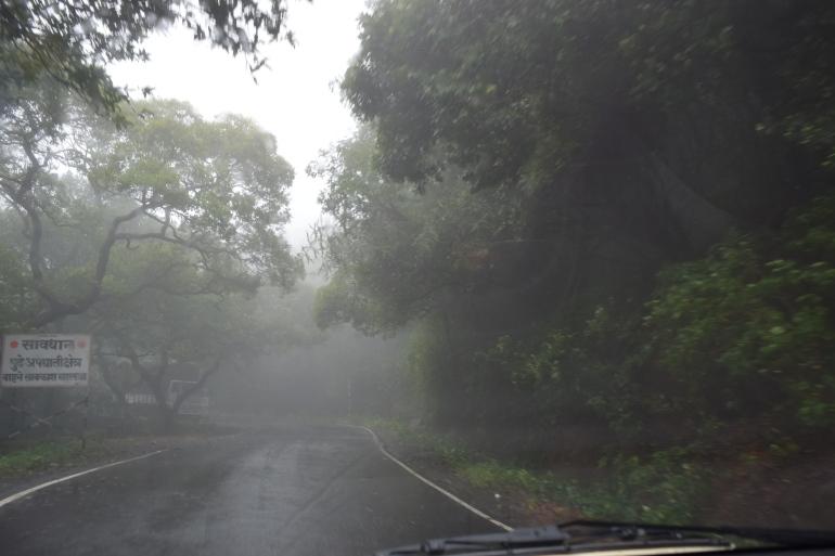 Torrential rains at Tamhini ghat
