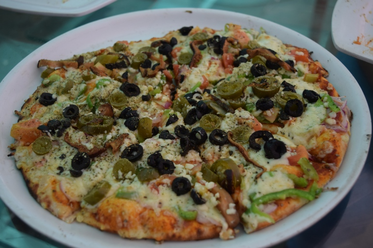 Our veggie pizza
