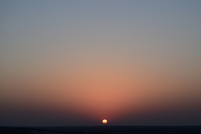 Sun sets  gloriously