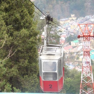 Ride till Snow View point on Ropeway