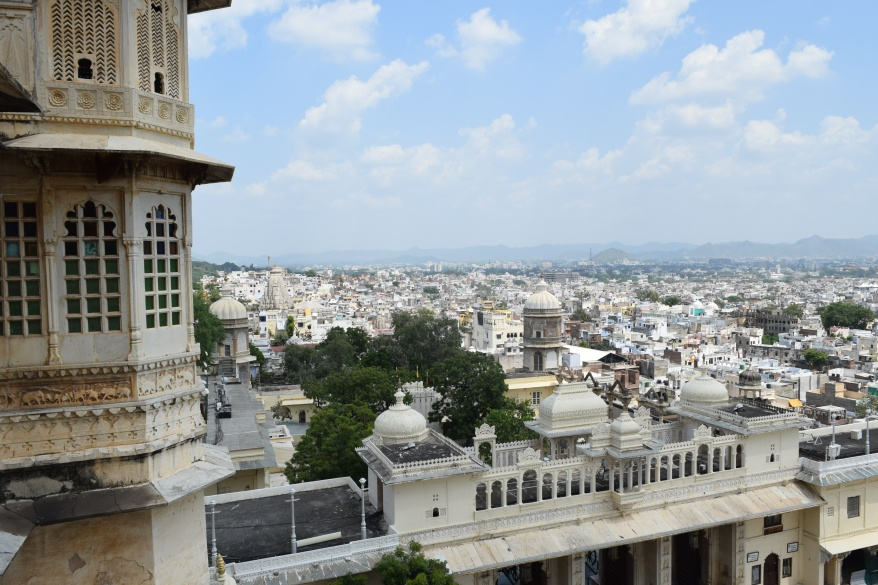 View of the white city from the palace window