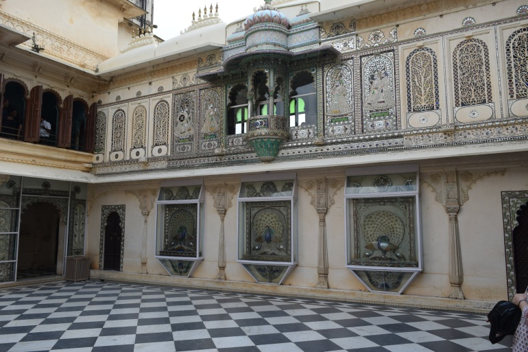 Renovated courtyard which once was the meeting place for kings and nobles
