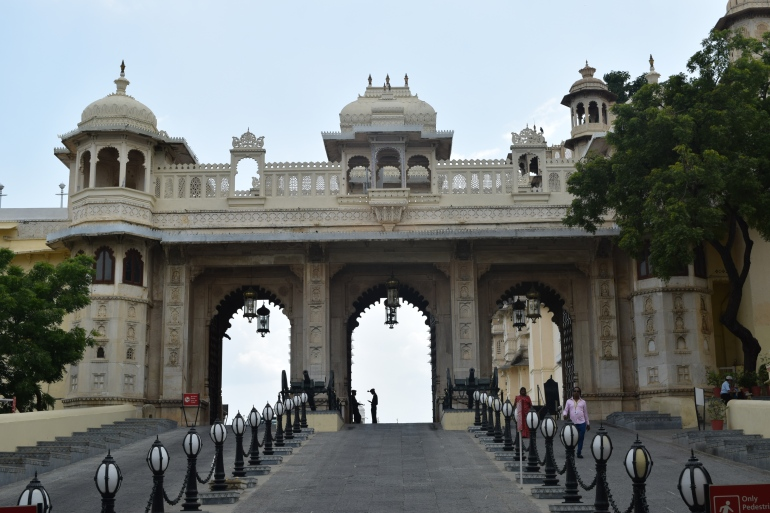 Tripolia Gate with electric lamps and guards