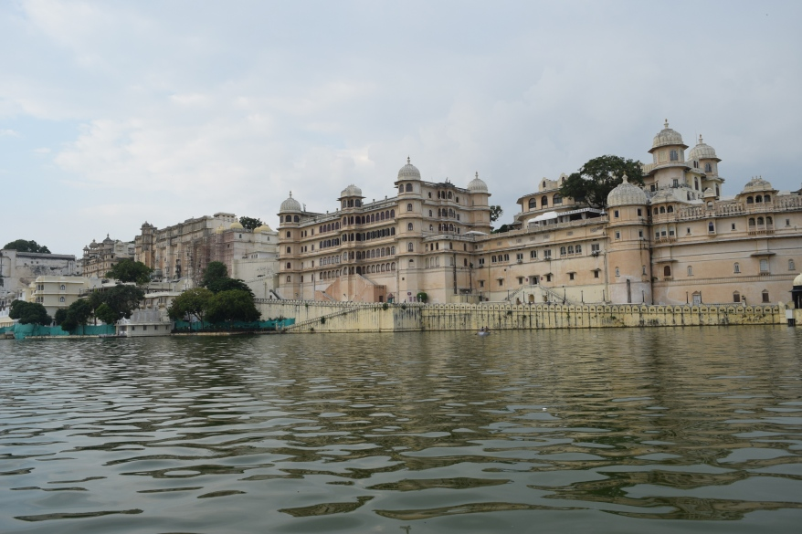 View of palace from lake Pichola