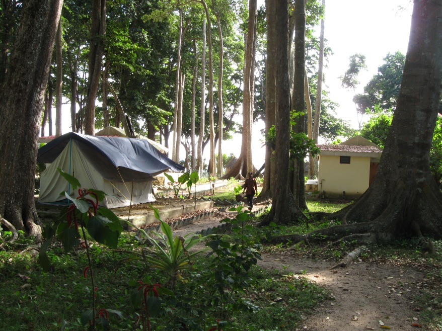 Tent accommodation at Havelock Island