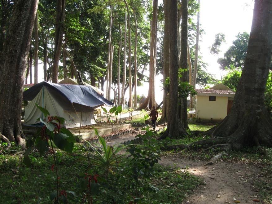 Tent accommodation at Havelock Island