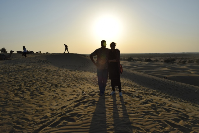 Setting Sun as backdrop for our 'couple-clicks'at Khuri