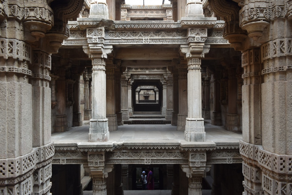 Stepwell of Adalaj with intricate stone work