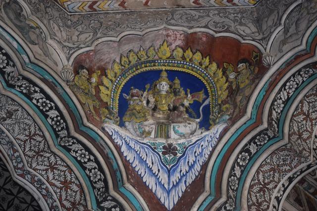 Ceiling of palace of Serfoji Mahara, the Maratha King