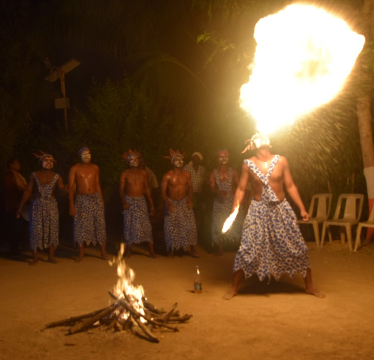 Fire breathing tribals