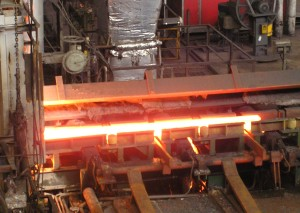 Steel bars in the making