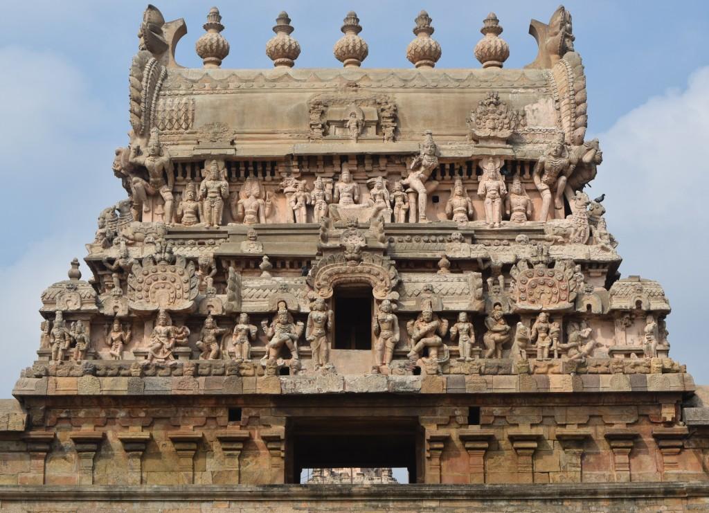 Top of inner Gopuram adorned with sculptures