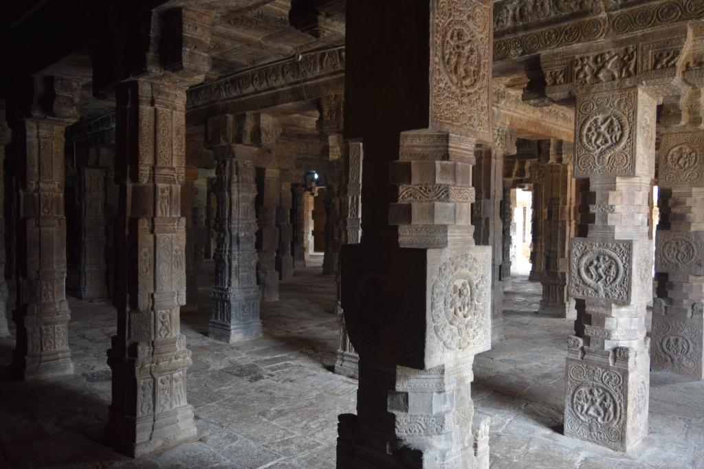 Carved Pillars at mandapam