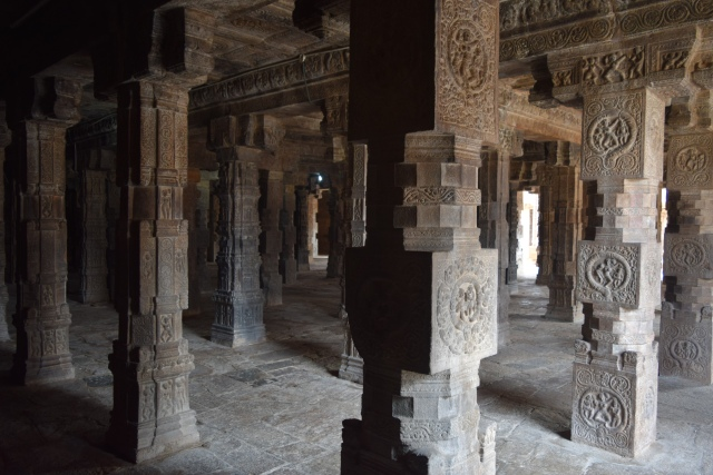 Carved Pillars at mandapam