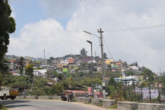 Hill town of Kodaikanal packed with small houses