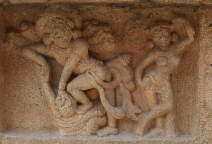 Bhima killing Keechak, story from Mahabharat