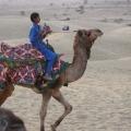 A young camelrider