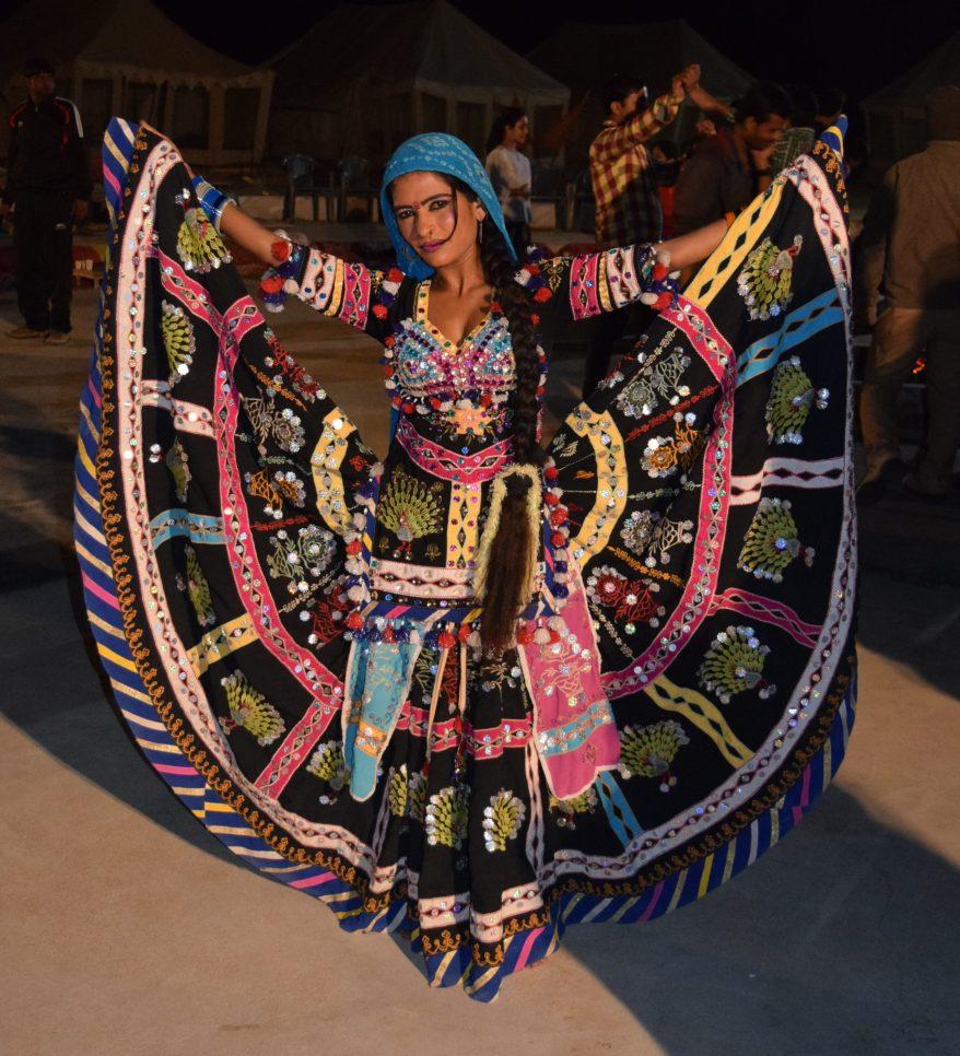 Kalbeliya dancer with her huge skirt