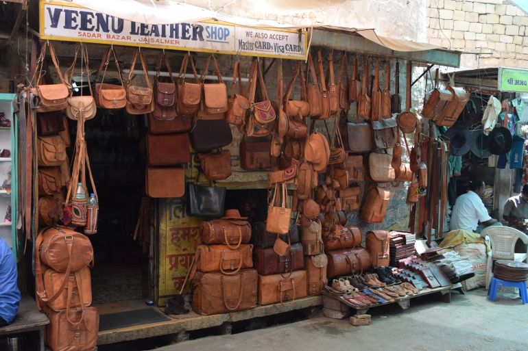 Leather goods overflowing