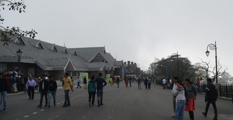 Mall road at Shimla