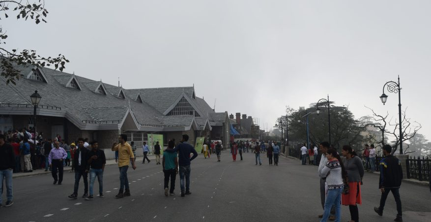 Mall road at Shimla