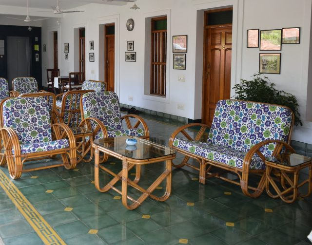 The Bangalas lounge with Athangudi Palace tiles