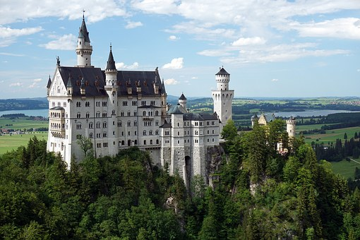 The fairy tale castle atop the hill