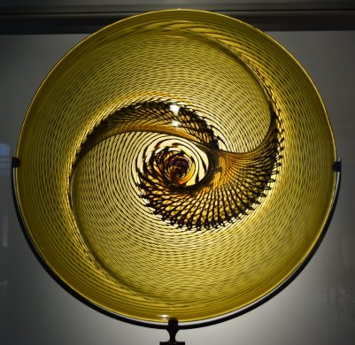 A disc of glass