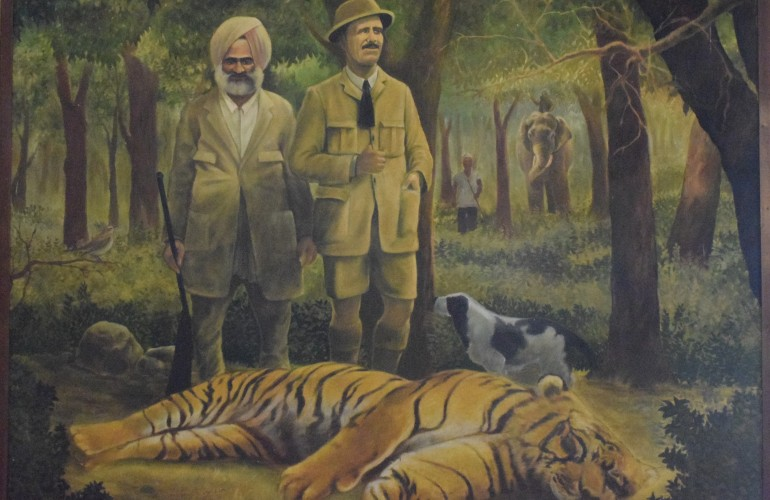 Jim Corbett with his hunt