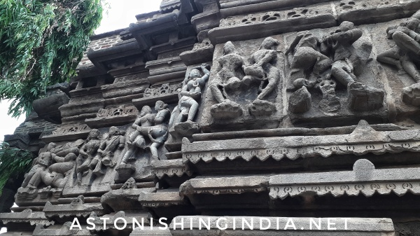 Wall sculptures of temple