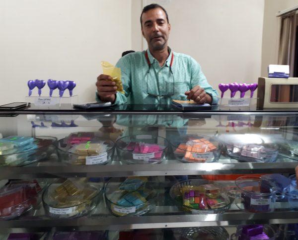 Sharayar with his chocolates